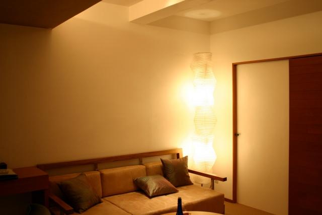 間接照明と寝つき